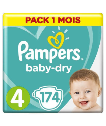 PAMPERS BabyDry Taille 4,...