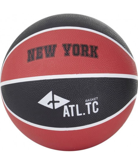 ATHLITECH Ballon de basketball New York  Taille 5  Noir et rouge