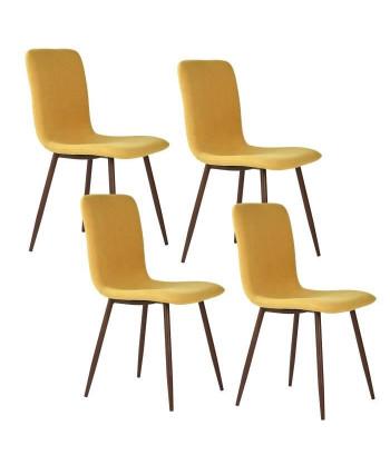 SCARGILL Lot de 4 chaises...
